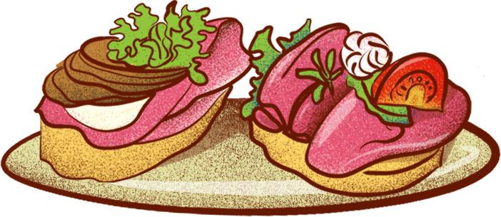 Chlebičky (open faced sandwiches) - Best Czech Foods