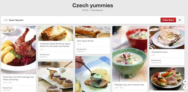 CZ Tourism (Czech Yummies) - Prague Pinterest