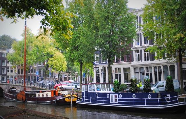 Converted cargoships houseboat amsterdam