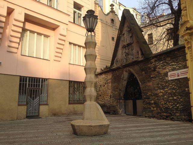 Cubist streetlight - Academic architecture tour - Prague