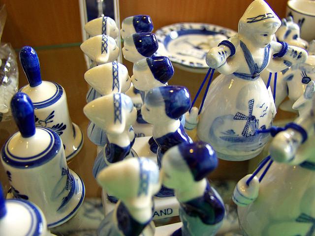 Delft blue porcelain - Amsterdam souvenirs
