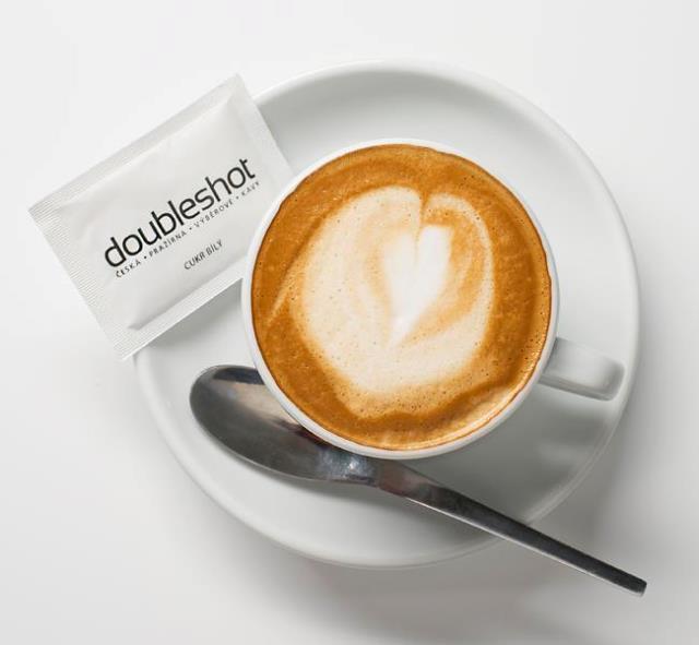 Doubleshot Coffee at kavarna muzeum Prague