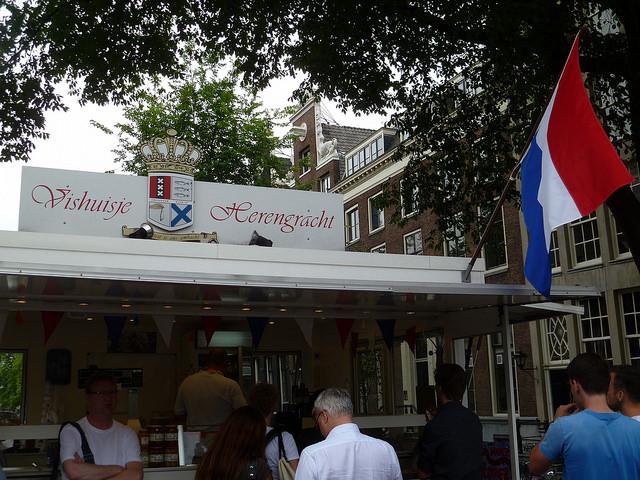 Herring Vishuisje Herengracht Amsterdam