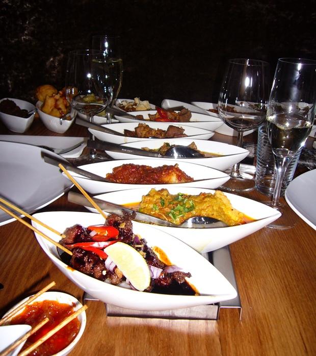 Indonesian rijsttafel at Blauw