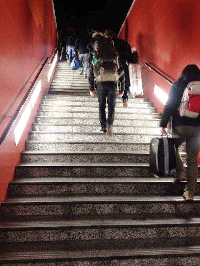 Metro Stairs to Airport