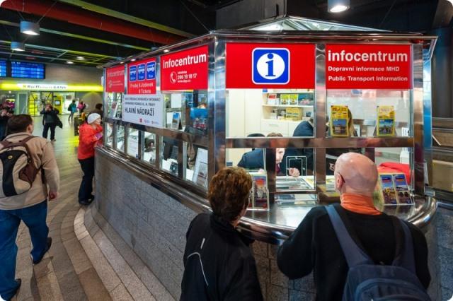Public transport info centres Prague