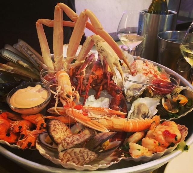 Fruits de mer at the Seafood Bar