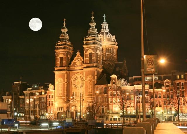 Street Scene, Amsterdam, Holland