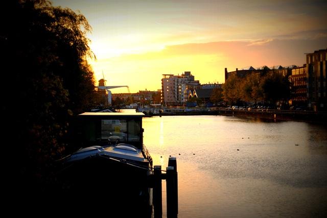 Summer in Amsterdam sunset