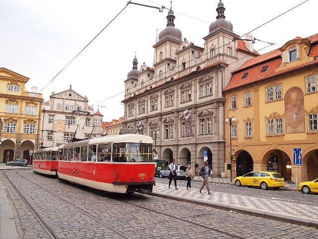 Tram at Lesser Town Square - Prague