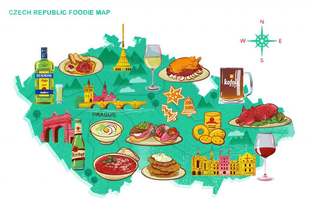 Czech Foodie Map - Eating Prague