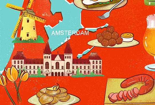 Dutch Foodie Map – Where to Find Dutch Food in Amsterdam