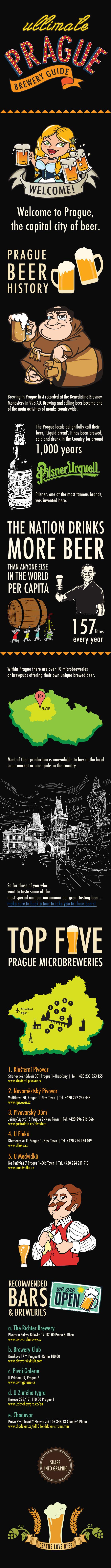 Prague Beer Infographic