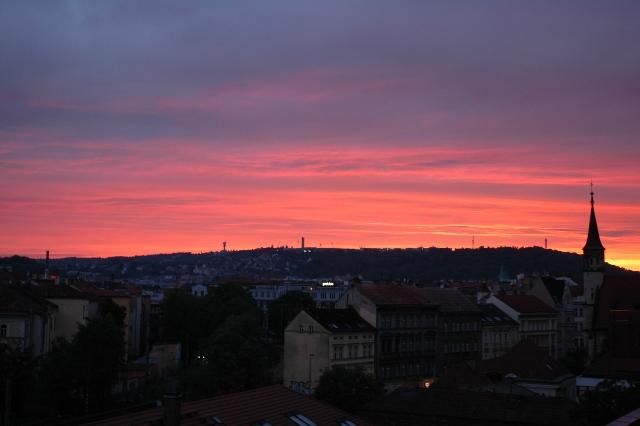 sunset Prague