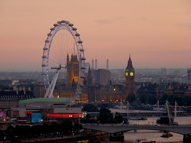 Autumn dusk in London