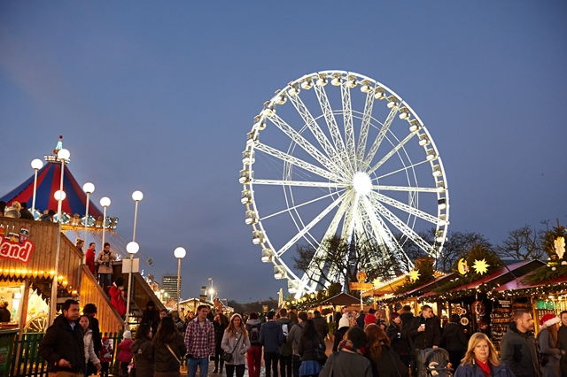Christmas Markets in London - Wooden Chalets