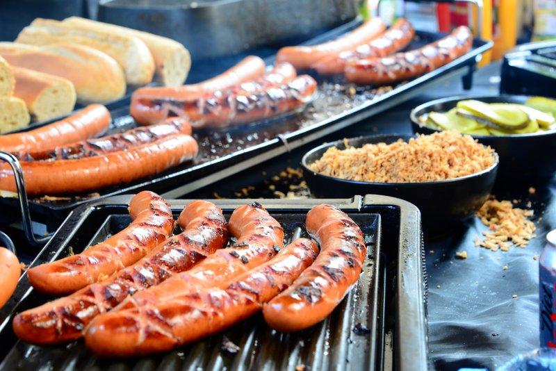 Street food stalls on the lanes of Brick Lane