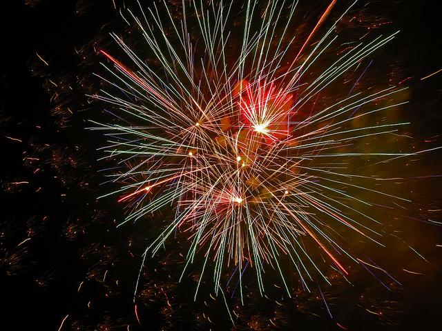 Fireworks on Guy Fawkes night by Berit Watkin