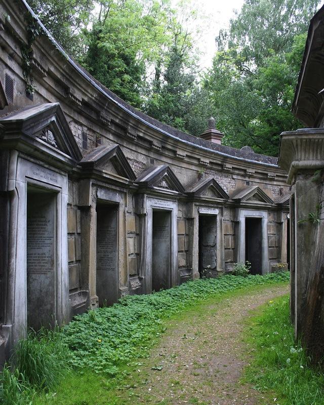 Cemetery in London