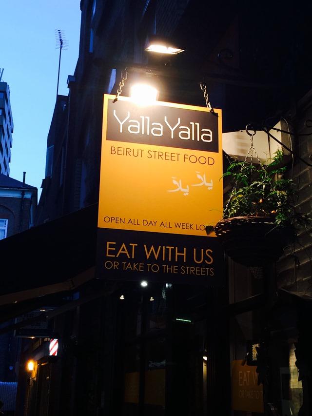 Yalla Yalla - mezze - London Soho