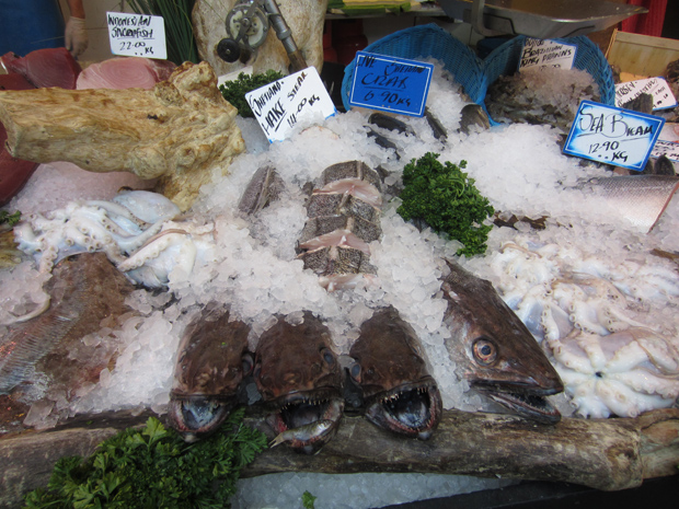 fish at the Borough Market