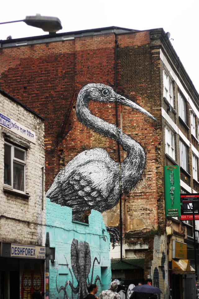 The Sacred Crane on Hanbury Street by Bobbi O'Gilvie