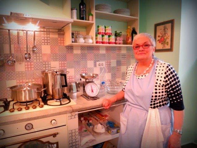Bruna cooking Rome