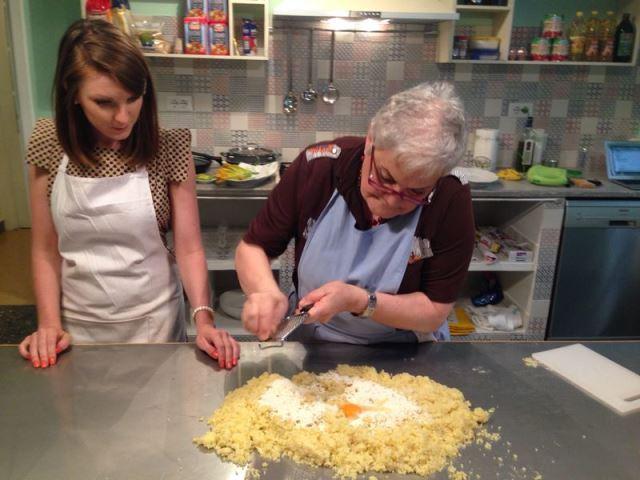 Bruna cooking lesson Italian