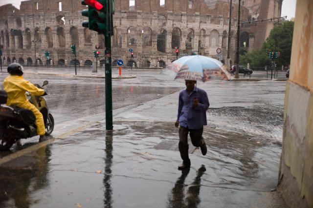 Colosseum in rain