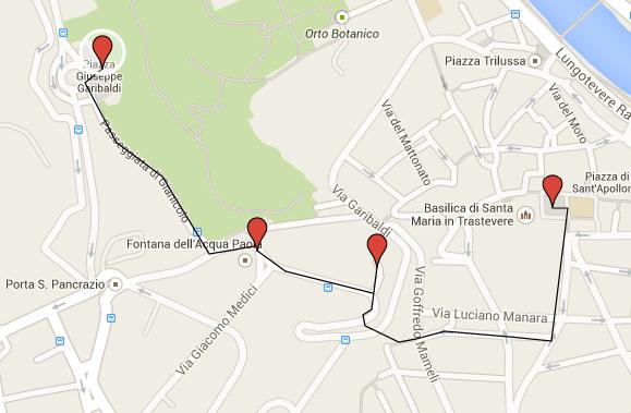 Walk to Janiculum Hill