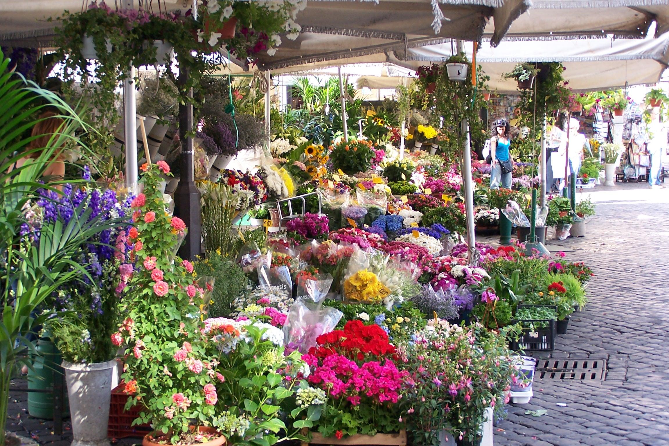 Rom, Campo de' Fiori, Markt
