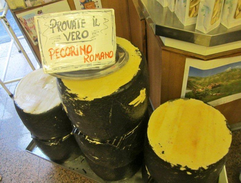 """Cacio"" at Antica Caciara in Trastevere."