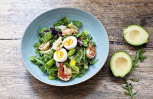 salad in prague restaurant