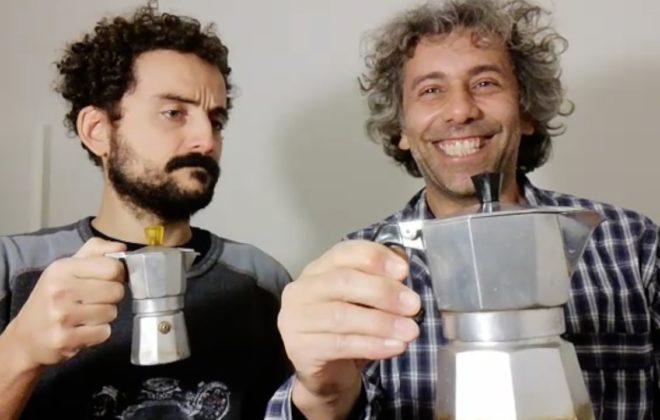 Italian Comedians in Pajamas Making Coffee
