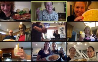 zoom online cooking class